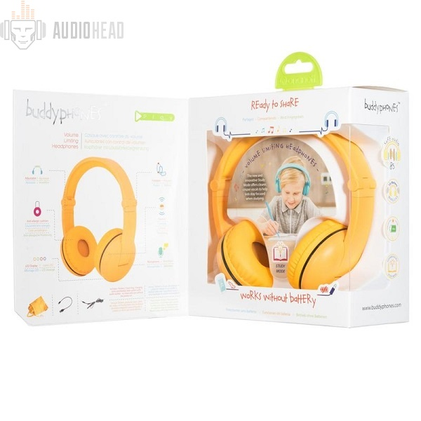 BuddyPhones Play Safari Yellow