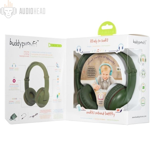 BuddyPhones Play Amazon Green