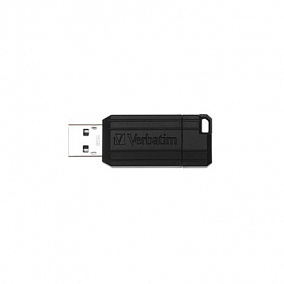 USB 2.0 Verbatim 16Gb Pin Stripe Black