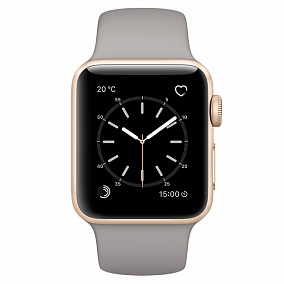 Apple Watch Series 2 38mm Gold with Grey Stone Sport Band MNP22RU/A