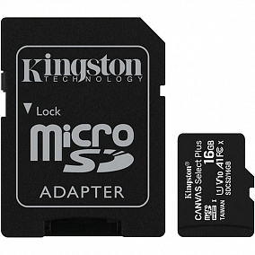 Kingston Micro Secure Digital HC Class10 UHS-I Canvas Select SDCS2/16GB-3P1A