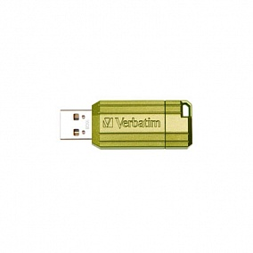USB 2.0 Verbatim 16Gb Pin Stripe Green