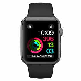 Apple Watch Series 2 42mm Grey Space with Black Sport Band MP062RU/A