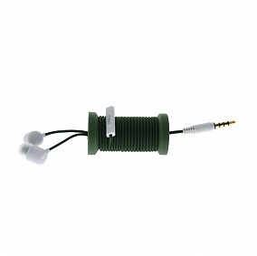 Philo Spool Earphones Military Green