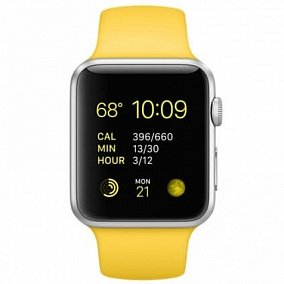 Apple Watch 42mm with Yellow Sport Band MMFE2RU/A
