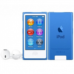 Apple iPod Nano - 16Gb Blue MKN02RU/A