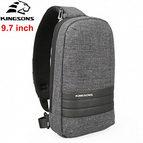 "Kingsons KS3188W Dark Grey 9,7"" Single Strap Backpack"