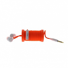Philo Spool Earphones Orange