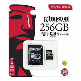 Kingston microSDHC 256Gb Class 10 + SD Adapter