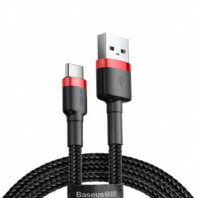 Baseus Cafule Cable USB - MicroUSB 1.5A 2m Red-Black CAMKLF-C91