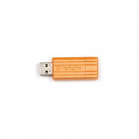 USB 2.0 Verbatim 16Gb Pin Stripe Orange