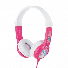 BuddyPhones Connect Foldable Pink
